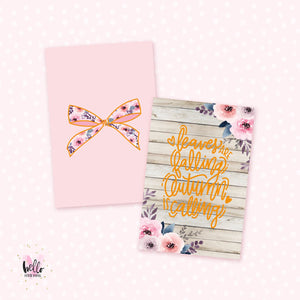 2 gold foil Journaling cards | double sided - Autumn Calling