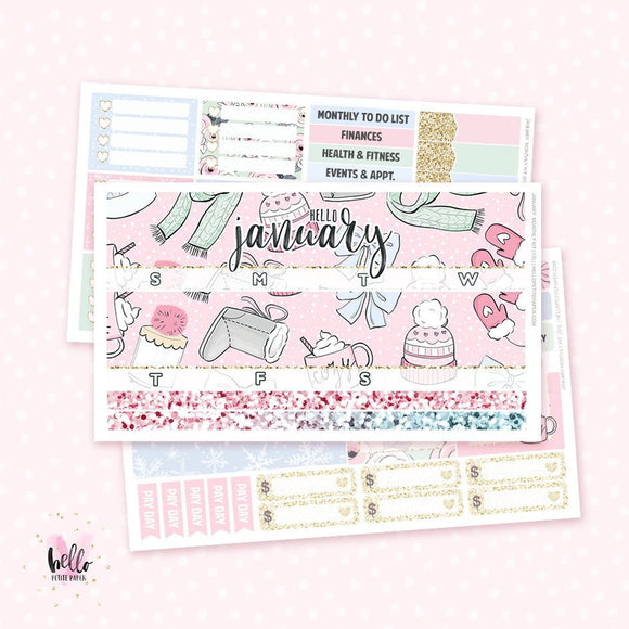 2019 January Monthly Sticker Kit