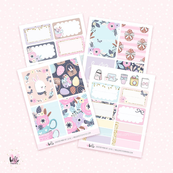 Easter MINI KIT - planner stickers (4 sheets)