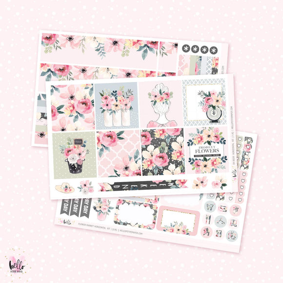 Flower Market - Horizontal sticker kit