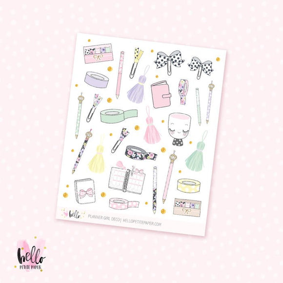 Planner Girl - kit deco, planner stickers