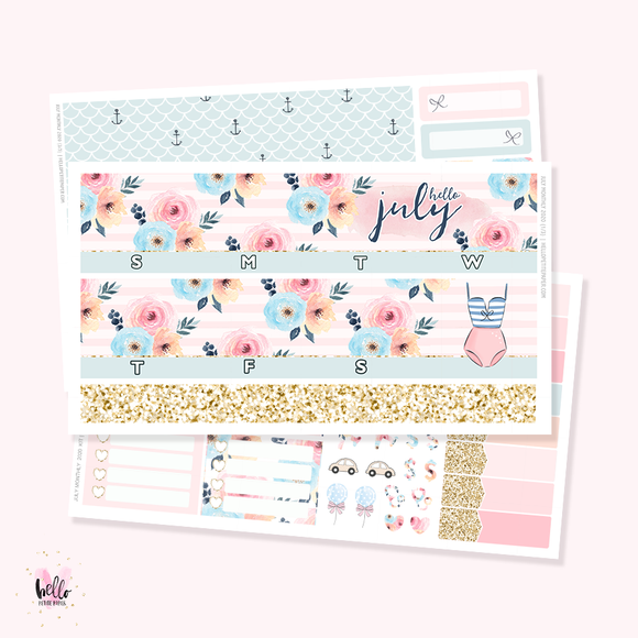 July 2020 Monthly Sticker Kit (optional foil)
