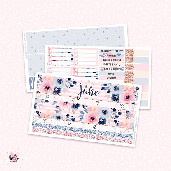 2019 June Monthly Sticker Kit