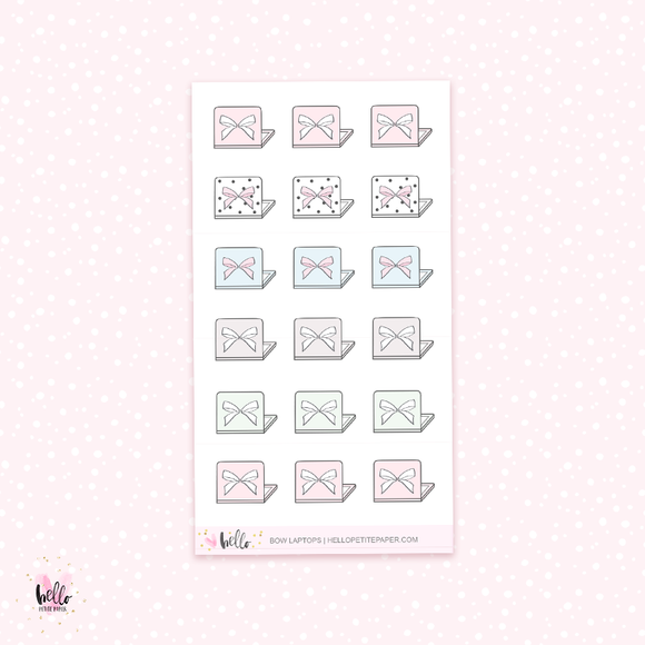 Bow Laptops - planner stickers