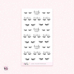Eyelashes - mini planner stickers