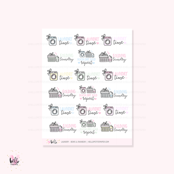 Laundry Scripts - planner icon stickers