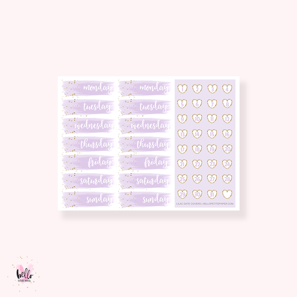 Date Cover Stickers - Pick your color