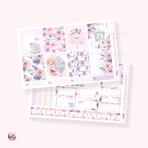 Lavender Fields - Horizontal sticker kit