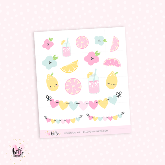 Lemonade - Kit Deco, planner stickers