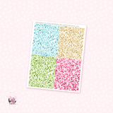 Glitter Headers - 28 planner stickers