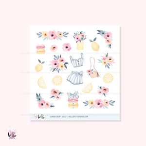 Lemon Drop  - Kit deco, planner stickers
