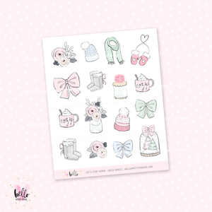 Let's stay home  - Kit deco, planner stickers