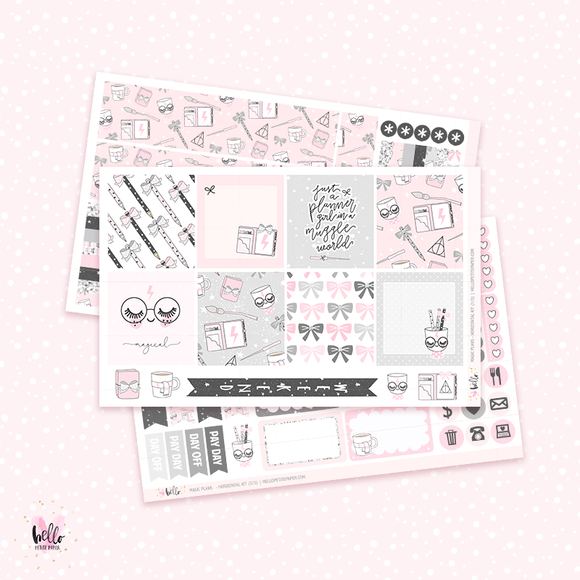 Magic Plans - Horizontal sticker kit