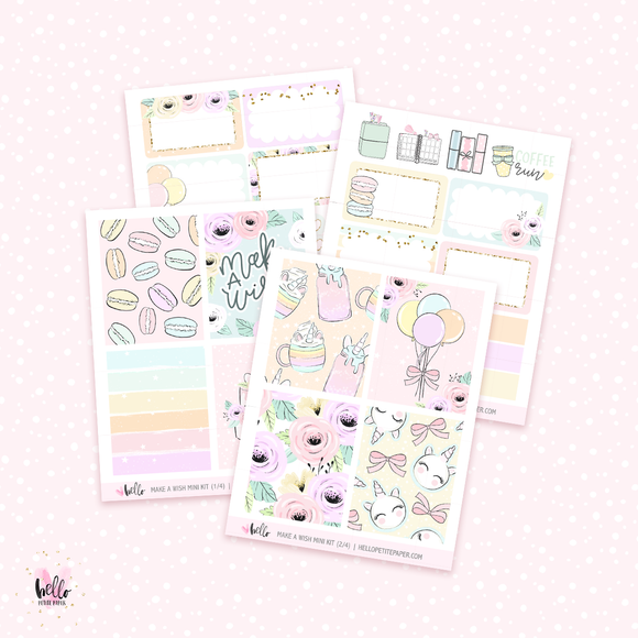 Make a wish - Mini sticker kit