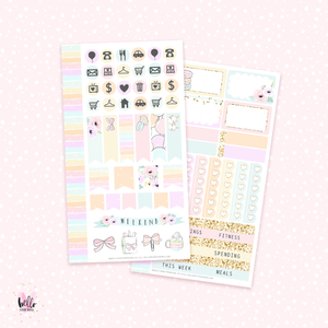 Make a wish - Personal size sticker kit