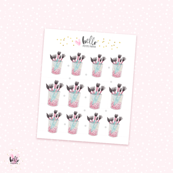 Makeup Brushes deco stickers