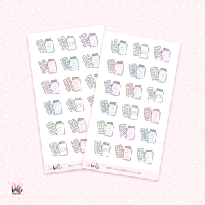 Meds - mini planner stickers