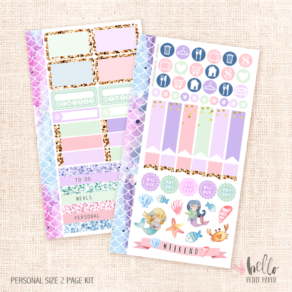 Mermaids - Personal size sticker kit
