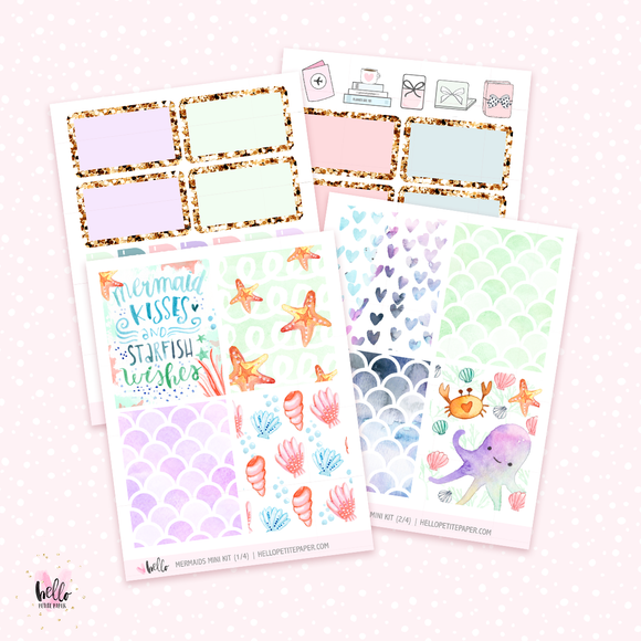 Mermaids MINI sticker kit