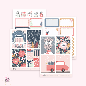 Merry and Bright - Mini sticker kit