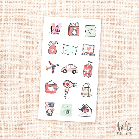 Merry and Bright - mini sticker sheet