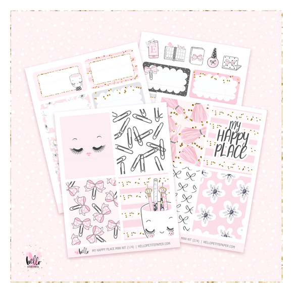 My Happy Place MINI sticker kit