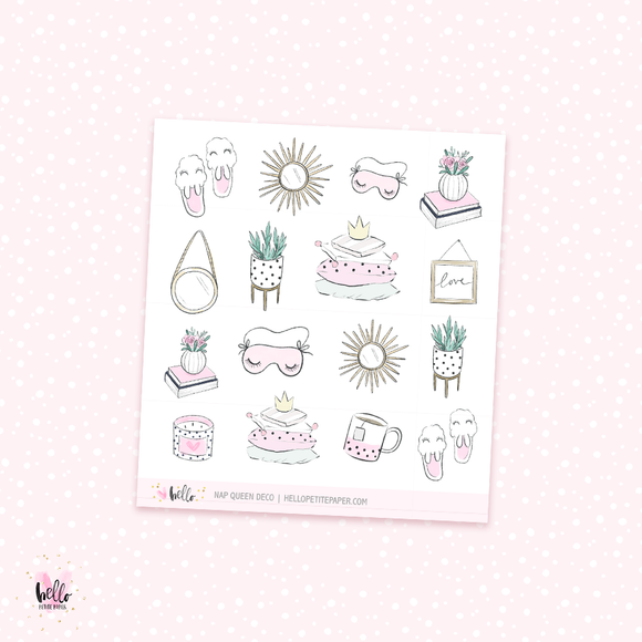 Nap Queen - Kit deco, planner stickers