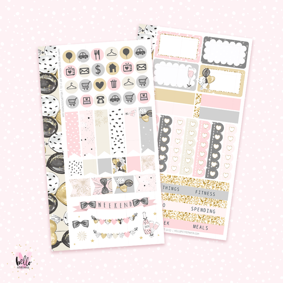 Happy New Year - Personal size sticker kit