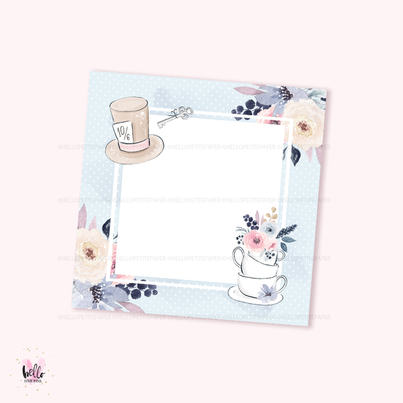 Square Notepad - Tea Time