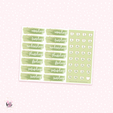 Date Cover Stickers - one sheet