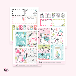 Oh What Fun- Mini sticker kit