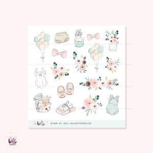 Oh Baby  - Kit deco, planner stickers