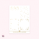 Stars boxes  - foil overlay stickers (gold or holo)