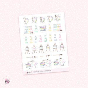 Painting time - planner stickers