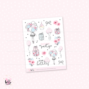 Party - kit deco, planner stickers
