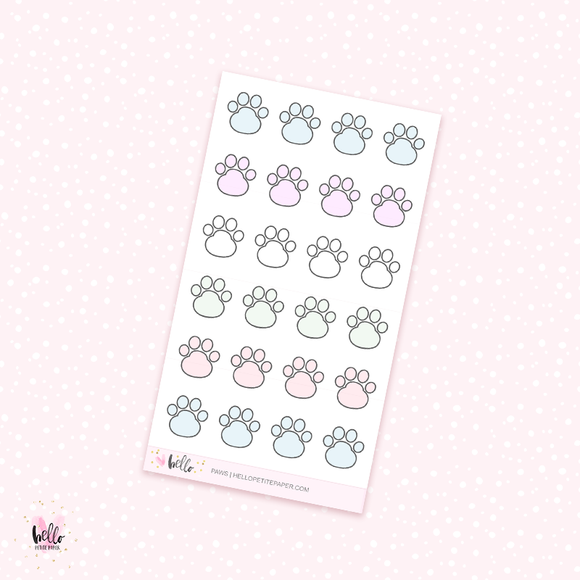 Paws -planner stickers