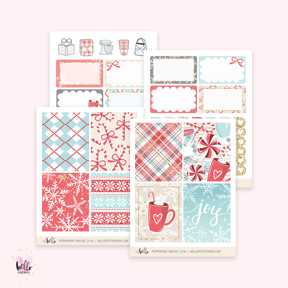 Peppermint - Mini sticker kit