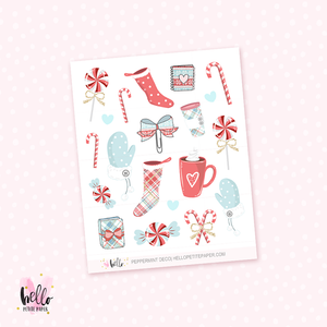 Peppermint  - Kit deco, planner stickers