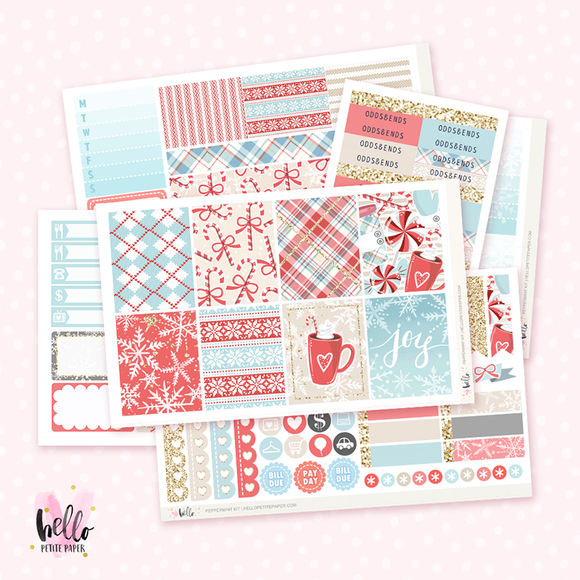 Peppermint sticker kit