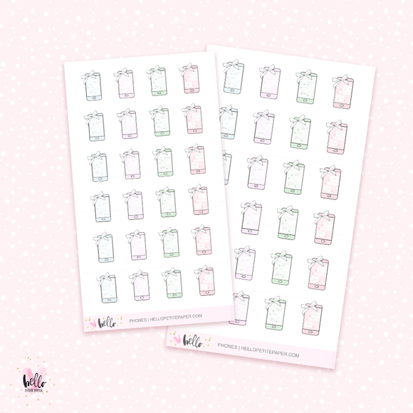 Phones - mini planner stickers
