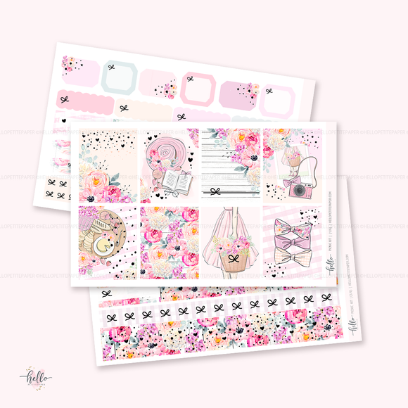 Picnic FOILED sticker kit | glossy 5 sheets (limited edition)