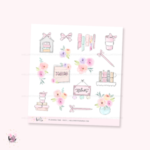 Planning Time  - Kit deco, planner stickers