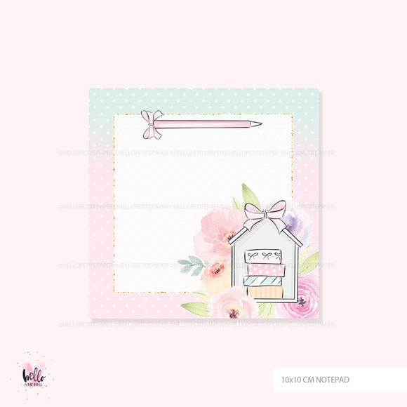 Square Notepad - Planning Time