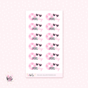 Pool Day - planner stickers
