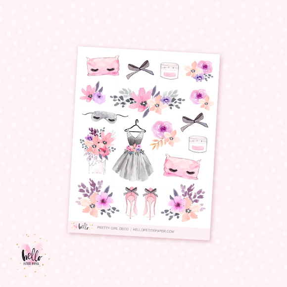Pretty Girl - kit deco, planner stickers