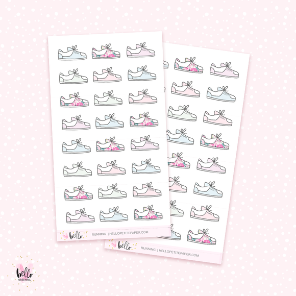 Running - mini planner stickers