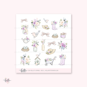 Say Hello to Spring - Kit deco, planner stickers