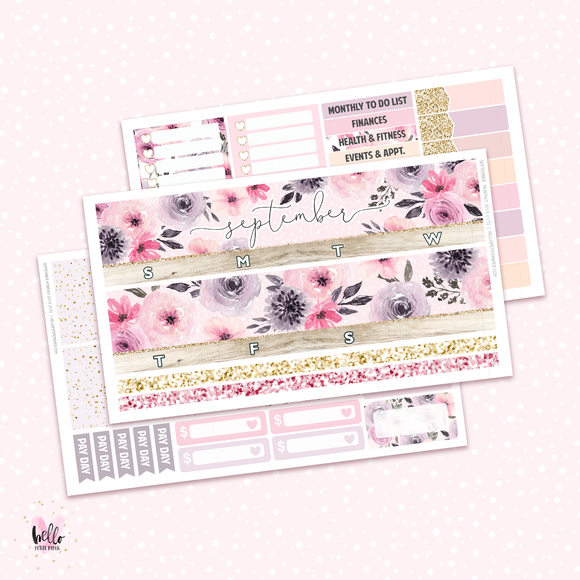 September Monthly Sticker Kit