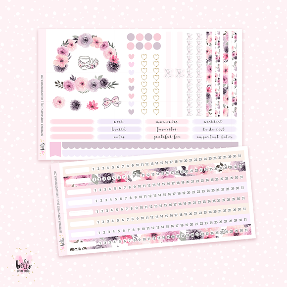 September NOTES Sticker Kit