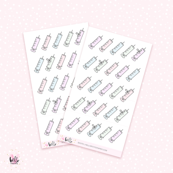 Shots - mini planner stickers